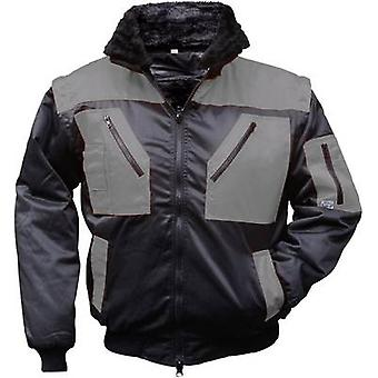 L+D Griffy 4206 4-in-1 Multi-Functions-Pilot jacket with warning effect. Black, Grey XXXL