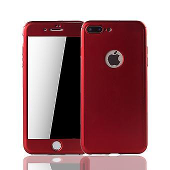 Apple iPhone 7 Plus mobile housse de protection cas couvercle blindés protection verre rouge