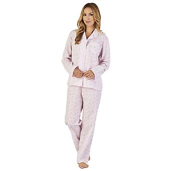 Slenderella PJ2203 Women's Sprig Polycotton Floral Pajama Pyjama Set