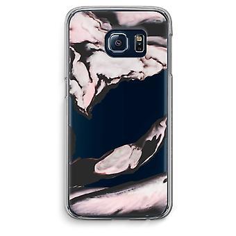 Samsung Galaxy S6 bordo trasparente custodia (Soft) - flusso di rosa