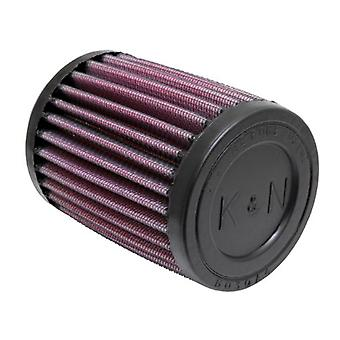 K&N RU-0200 Universal Clamp-On Air Filter: Round Straight; 1.688 in (43 mm) Flange ID; 4 in (102 mm) Height; 3 in (76 mm
