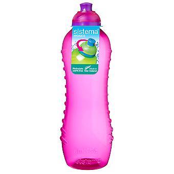 Sistema Twist 'n' Sip Drinks Bottle, 620ml, Pink