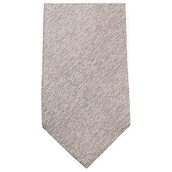 Knightsbridge Neckwear Plain Woven Tie - Beige