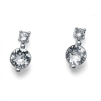 Oliver Weber Post Earring Everyday Rhodium Crystal
