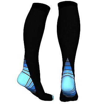 Knee High compression socks for running & Sport-Blue