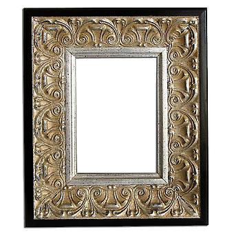 20x25 cm or 8x10 ins, silver frame