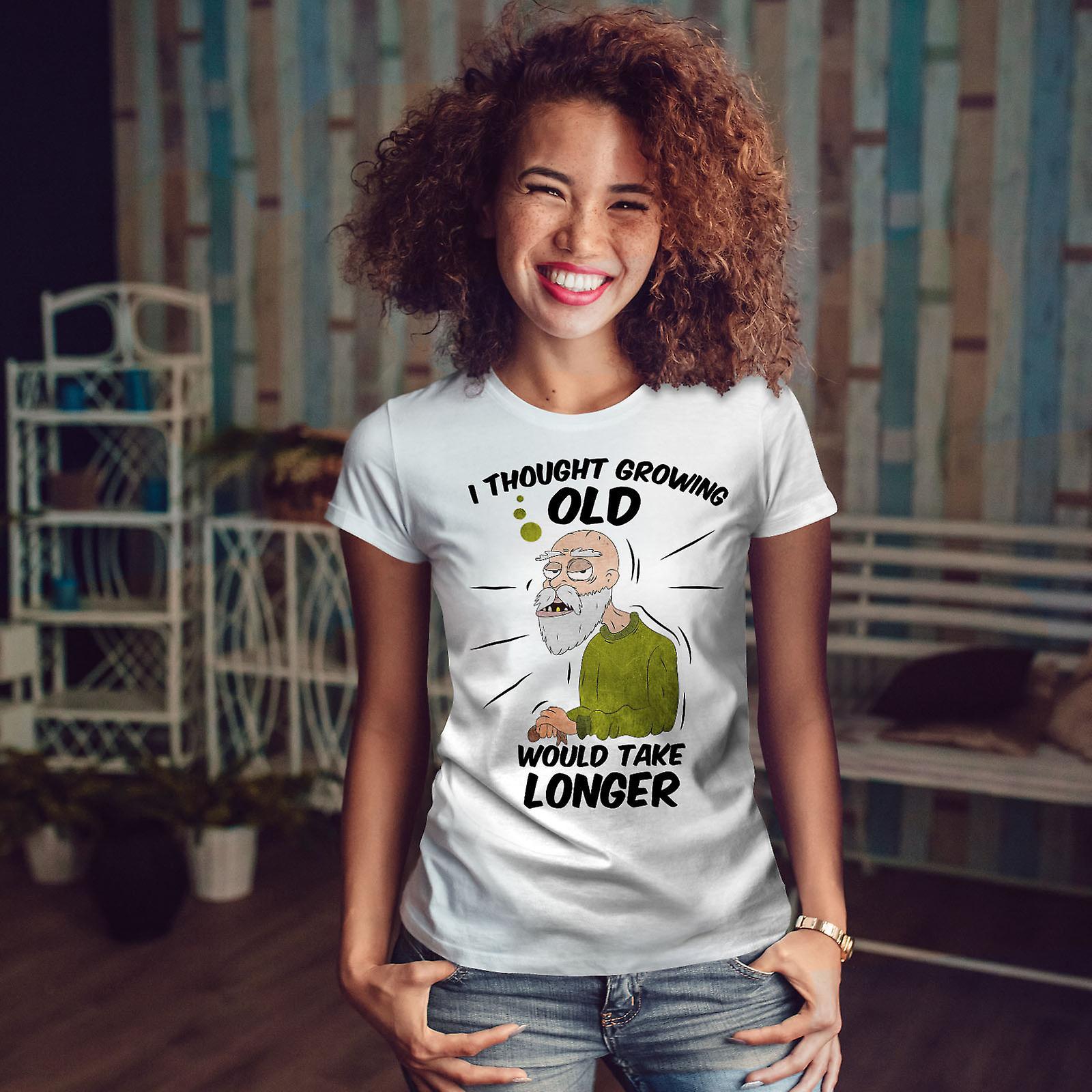 À la retraite cadeau drôle WhiteT-shirt femme | Wellcoda