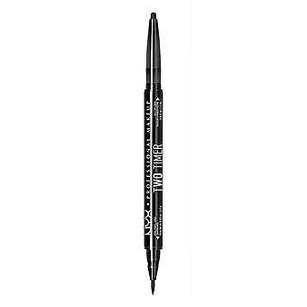 NYX PROF. MAKEUP Due Timer Dual Eyeliner-Black