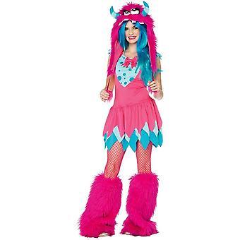 Teen Kostüm rosa Monster
