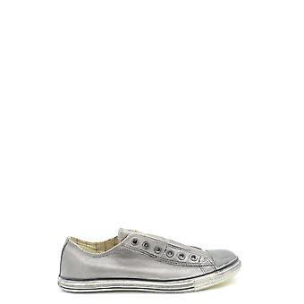 Converse Ezbc119042 Men's Silver Leather Sneakers