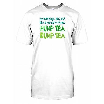 Min morgen spille som et barnerim pukkel te Dump te Mens T-skjorte