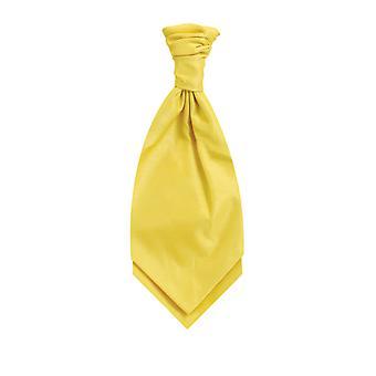 Dobell gutter gul Cravat Party bryllup Fancy kjole tilbehør Dupion