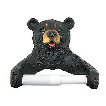 Rollo de papel de higiénico de Cub de oso negro lindo titular naturaleza