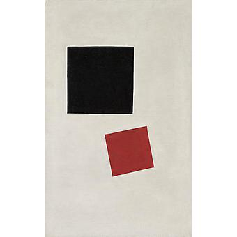 Black Square and Red Square, Kasimir Malevich, 71.1 x44cm