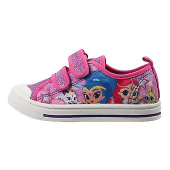 Shimmer & Shine Girls Bernina Low Top Casual Trainers UK Sizes Child 6-12