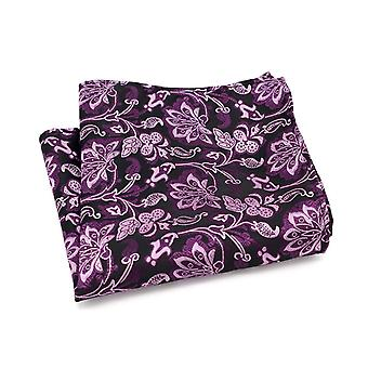 Purple floral paisley wedding event pocket square hanky