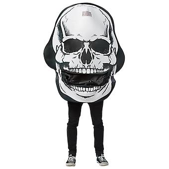 Adult Giant Skull Day of the Dead Halloween Fancy Dress Costume