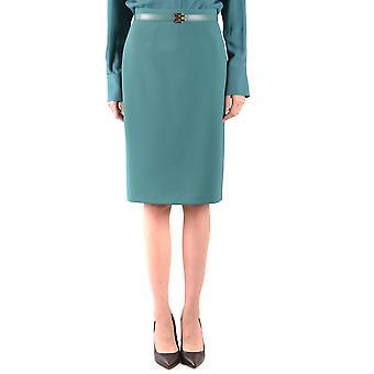 Elisabetta Franchi Ezbc050174 Damen's grüner Polyesterrock