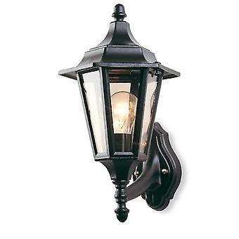 Firstlight-1 licht buiten 6 paneel lantaarn-uplight Black IP43-E100BK