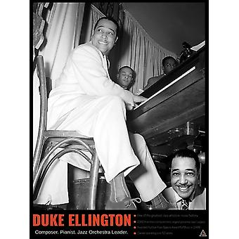 Duke Ellington Poster Wall Art Print Historical Facts (18x24)