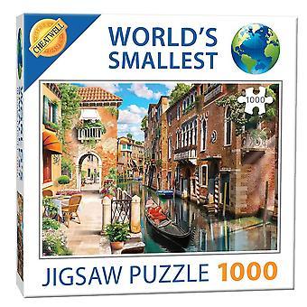 世界最小 1000年ピースのジグソー パズル - ベニス風運河 (1000年ピース)