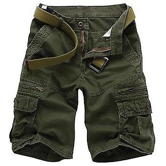 Allthemen Men's Shorts Solid Casual Cotton Short Pants