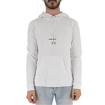 Saint Laurent 464581yb2pg9000 Men's White Cotton Sweatshirt