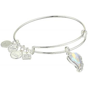Alex and Ani Crystal Wing Charm Bangle Bracelet