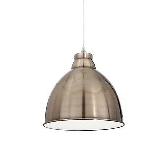 Ideal Lux Navy Single Pendant Light Bronze