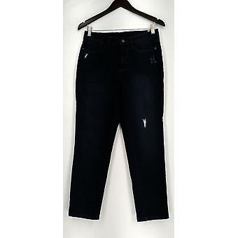 Susan Graver Dress M Liquid Knit Split V-neck 3/4 Sleeve Black A279891