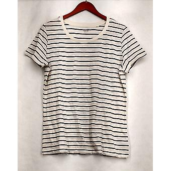 Mossimo Supply Co. XXL Striped Short Sleeve Tee White / Black Top Womens #5