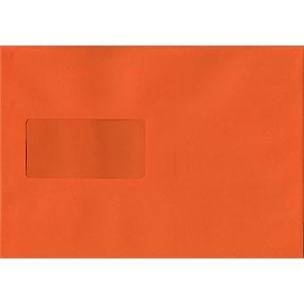 Pumpkin Orange Peel/Dichtung C5/A5 farbig Orange Umschläge. 120gsm Luxus FSC zertifiziertes Papier. 162 mm x 229 mm. Wallet-Stil-Umschlag.