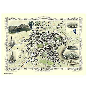 History Portal Edinburgh 1851 Map John Tallis 1000 Piece Jigsaw 690mm x 480mm (jg)
