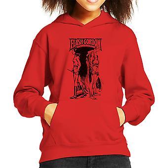 Flash Gordon And Dale Back To Back Kid's Hooded Sweatshirt