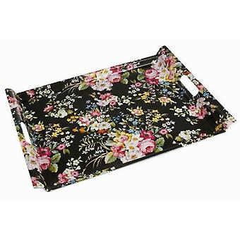 Bigbuy Kitchen Collection tray black bloom's Deco (Kitchen , Household , Trays)
