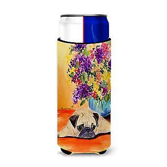 Carolines Treasures SS8294-Parent Pug Ultra Beverage Insulators para latas delgadas S