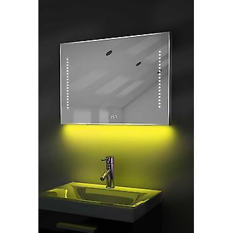 Cyfrowy zegar golarka lustro z mocy oświetlenia, Demist & czujnik k193w