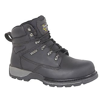 Grafters Mens couro segurança hiker tipo boot