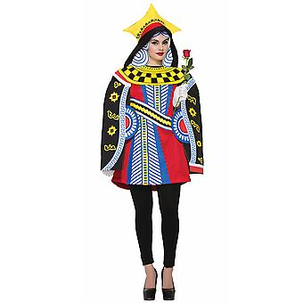 Queen Of Hearts Playing Card Poker Alice In Wonderland Book Week Women Costume