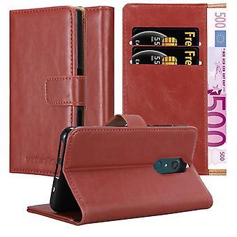 Futerał Cadorabo do obudowy WIKO VIEW XL - etui na telefon komórkowy z magnetycznym zapięciem, funkcją stojaka i komorą na kartę - Obudowa ochronna Case Book Folding Style