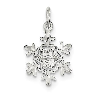 925 στερλίνα ασημένια γυαλισμένο υφή πίσω λάμψη κομμένα νιφάδα χιονιού γοητεία μενταγιόν κολιέ κοσμήματα δώρα για τις γυναίκες