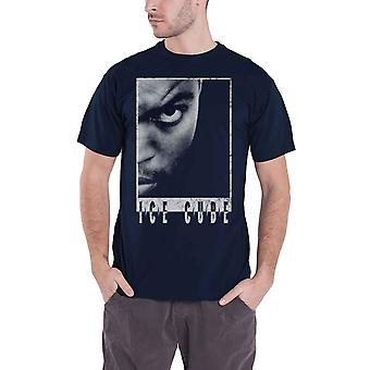 Ice Cube T Shirt Half Face Logo new Official Mens Black