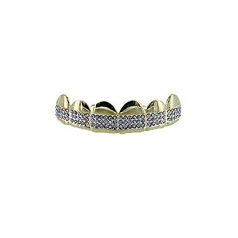 Grillz Cz Gold Diamond Band Micro Pave [Top]