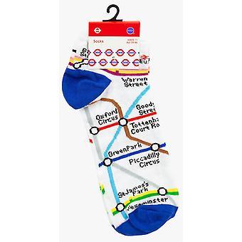 Tfl6309 licensed london underground tube map trainer socks mens