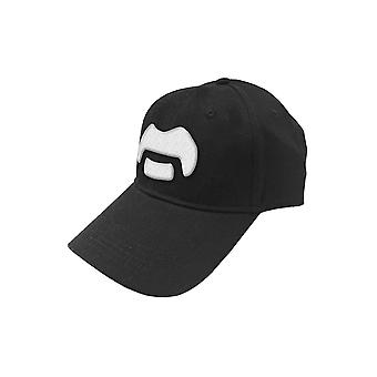 Frank Zappa Baseball Cap White Moustache new Official Black Strapback
