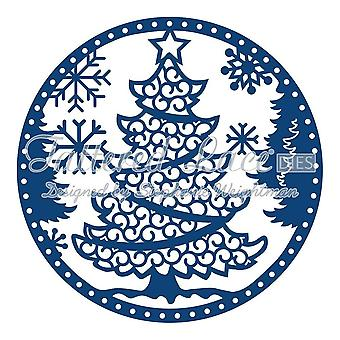 Sapin de Noël de dentelle en lambeaux Snowglobe D485