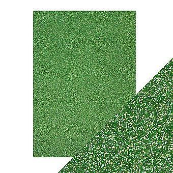 Tonic Studios A4 Craft Perfect Glitter Card, Lucky Shamrock, 30 x 21.5 x 0.5 cm