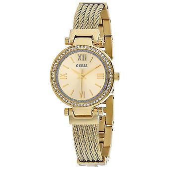Guess Women's Mini Soho Gold Dial Watch - W1009L2