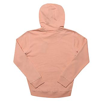 Junior Boys Lyle And Scott Classic Hoody In Coral- Ribbed Cuffs And Hem- Pouch