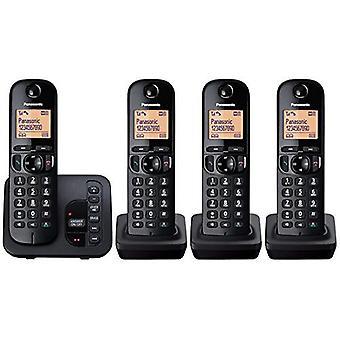 Panasonic KXTGC224EB cyfrowy telefon z wyświetlaczem LCD Quad Pack - czarny
